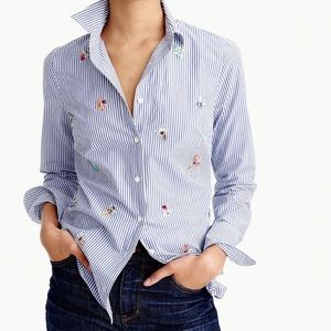 J crew perfect shirt embellished bugs